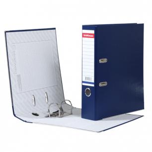 """Папка-регистратор ERICH KRAUSE """"Стандарт"""", с покрытием из ПВХ, 70мм, синяя, 271"""