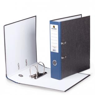Папка-регистратор BRAUBERG фактура стандарт, с мраморным покрытием, 80 мм, синий корешок, 220989