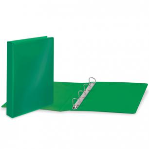 Папка 4 кольца BRAUBERG, картон/ПВХ, с передним прозрачным карманом, 50мм, зеленая, до 300 листов
