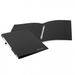 Папка с пластиковым скоросш. BRAUBERG Бюджет, черная, до 100 листов, 0,5мм, 222645