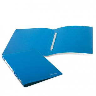 Папка с пластиковым скоросш. BRAUBERG Бюджет, синяя, до 100 листов, 0,5мм, 222644