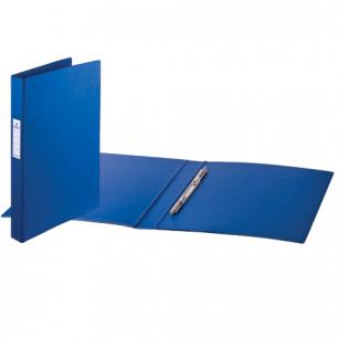 Папка с мет. пруж. скоросш. BRAUBERG картон/ПВХ, 35мм, синяя, до 290 листов, 223187