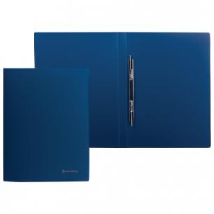 Папка с мет. скоросш. BRAUBERG Стандарт, синяя, до 100 листов, 0,6мм, 221633