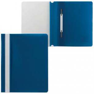 Скоросшиватель пластиковый BRAUBERG А5, синий, 224801
