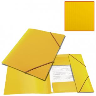 Папка на резинках BRAUBERG Contract, желтая, до 300 листов, 0,5мм, бизнес-класс, 221800