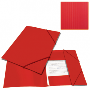 Папка на резинках BRAUBERG Contract, красная, до 300 листов, 0,5мм, бизнес-класс, 221798