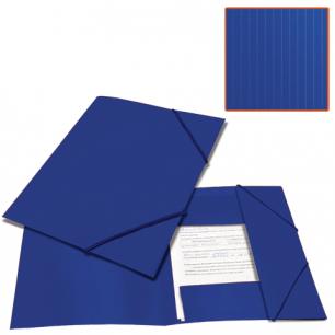 Папка на резинках BRAUBERG Contract, синяя, до 300 листов, 0,5мм, бизнес-класс, 221797