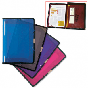 Папка на резинках BRAUBERG широкая, А4 330*240мм, ассорти, 0,60мм, 221368