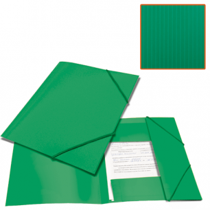 Папка на резинках BRAUBERG Contract, зеленая, до 300 листов, 0,5мм, бизнес-класс, 221799