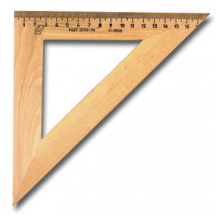 Треугольник деревянный УЧД 45*180, С15