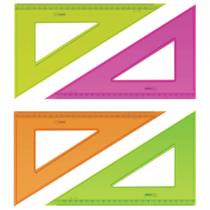 """Треугольник СТАММ """"Neon Cristal"""", 30*23см, тонированный, прозрачный, неон. ассорти, ТК54"""