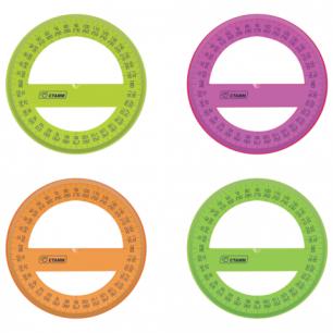 """ТранспортирСТАММ """"Neon Cristal"""", 12см, 360 градусов, тонированный, неон. ассорти, ТР51"""