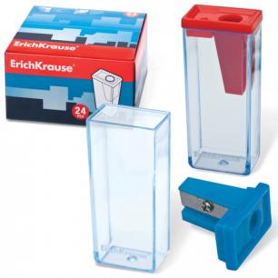 Точилка ERICH KRAUSE пластиковая, цвет ассорти, 21830