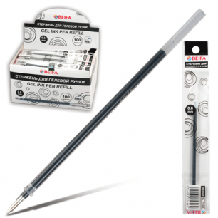 Стержень гелевый BEIFA 135 мм, 0,6мм, упаковка с европодв., PX666-BK, черный