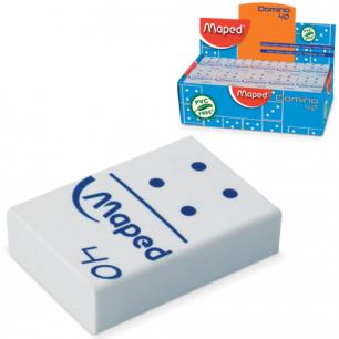 "Резинка стирательная MAPED (Франция)  ""Domino 40"", 32х22х8,5 мм, белая, в виде домино, дисплей, 511240"