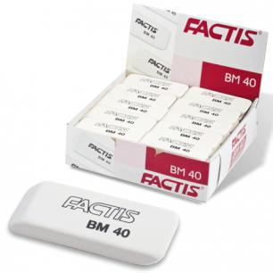 Резинка стирательная FACTIS мягкая для карандаша со скош. краем, 52,5х19,5х8,5 мм, BM40