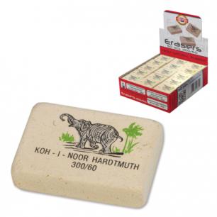 Резинка стирательная KOH-I-NOOR прямоугольная, 31x21x8 мм, цветная, картонный дисплей, 300/60