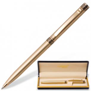 """Ручка шариковая GALANT """"Ingrid"""", подарочная, корп. золотистый, золотистые детали, 141008, синяя"""