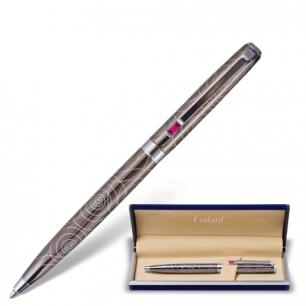 "Ручка шариковая GALANT ""Kawasaki"", подарочная, корп. серебристый, хромир. детали, 141361, синяя"