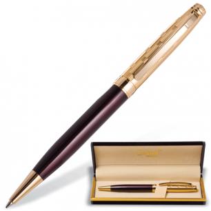 """Ручка шариковая GALANT """"Bremen"""", подарочная, корп. бордовый/золотистый, золотист.детали, 141010, син"""
