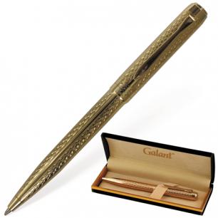 """Ручка шариковая GALANT """"Graven Gold"""", подарочная, корп. золотистый, золотистые детали, 140466, синяя"""