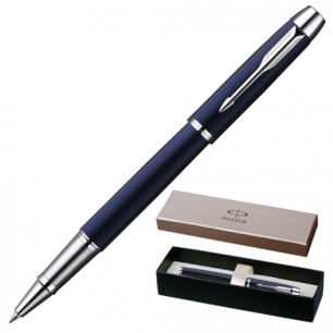 Ручка роллер PARKER IM Blue Lacquer CT корпус синий, латунь, лак, хромир. детали, S0856380, чер