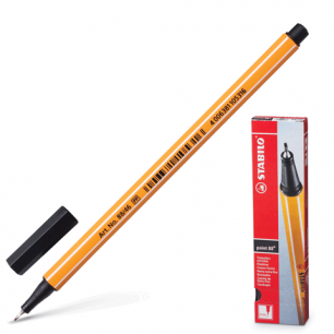 """Ручка капиллярная STABILO """"Point"""", толщ. письма 0,4мм, 88/46, черная"""