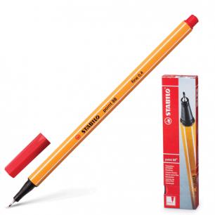 "Ручка капиллярная STABILO ""Point"", толщ. письма 0,4мм, 88/40, красная"