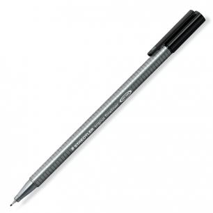 """Ручка капиллярная STAEDTLER (Штедлер, Германия)  """"Triplus"""", трехгранная, толщ.письма 0,3мм, черн, 334-9"""