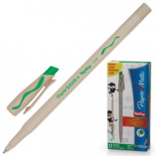 "Ручка Пиши-стирай шариковая PAPER MATE ""Replay"", корпус бежевый, 1,0мм, S0183001, зеленая"