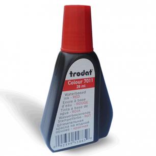 Краска штемпельная TRODAT красная 28 мл, на водной основе, 7011к