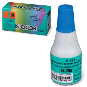 Краска штемпельная NORIS синяя 25мл, (универс. для глянц. бумаги, металла, пластмасс и т.д.), 191Ас