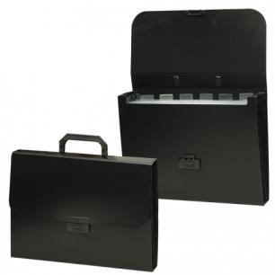 Портфель пласт. BRAUBERG Energy, А4 256*330 мм, 6 отделений, черный, 221204