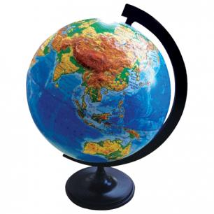 Глобус физический диаметр 320 мм рельефный (Россия), 10196