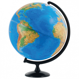 Глобус физический диаметр 420 мм (Россия), 10322