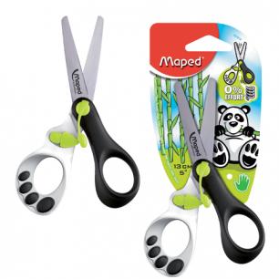 """Ножницы MAPED (Франция)  """"Koopy"""", 130мм, закругл. детские, ассорти, карт.упак. с европодвесом, 037910"""