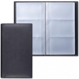 """Визитница трехрядная BRAUBERG """"Favorite"""", под классическую кожу, на 144 визитки, черная, 231655"""