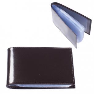 """Визитница карманная BEFLER """"Classic"""" на 40 визиток, натур. кожа, коричневая, V.30.-1, ш/к-80011"""