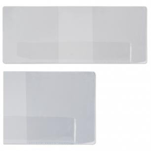 Обложка для удостоверения ПВХ, 90*226, прозрачная, ДПС, 1267.К