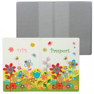 """Обложка для паспорта """"Твой стиль-Цветы"""", вертикальная, кожзам, ДПС, 2203.Т5"""