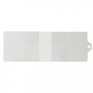 Обложка для удостоверения с хлястиком, ПВХ, 78*224, прозрачная, ДПС, 1323.К