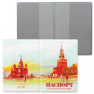 """Обложка для паспорта России """"Столица"""", вертикальная, ПВХ, ассорти, ДПС, 2203.ПС"""