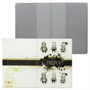 """Обложка для паспорта """"Твой стиль-Хулиганы"""", вертикальная, кожзам, ДПС, 2203.Т1"""