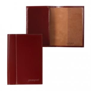 """Обложка для паспорта BEFLER """"Classic"""" натур. кожа, тиснение """"Passport"""", коньяк, O.21.-1,ш/к-90014"""
