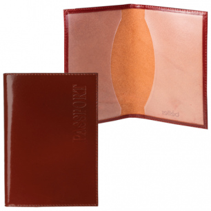 """Обложка для паспорта BEFLER """"Classic"""" натур. кожа, тиснение """"Passport"""", коньяк, O.1.-1, ш/к-90017"""