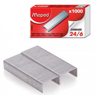 Скобы для степлера MAPED (Франция), №24/6, 1000 шт., 324405