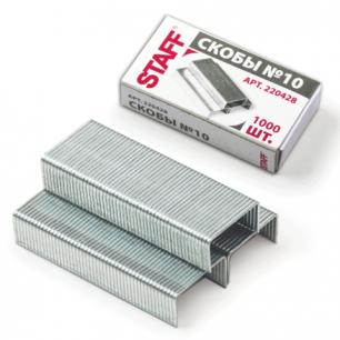 Скобы для степлера STAFF эконом №10 1000шт., 220428