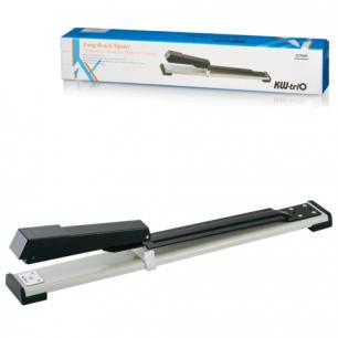 Степлер KW-trio брошюровочный №24/6-26/6, до 20 листов, глубина захвата до 317мм, серый/черный, 5900