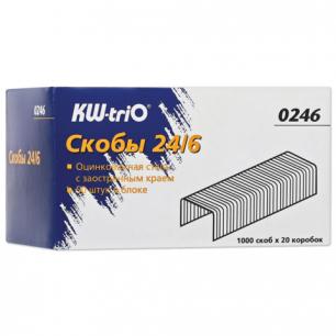 Скобы для степлера KW-trio №24/6, 1000 шт., 0246