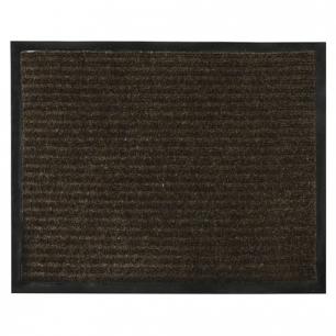 Коврик входной ворсовый влаго-грязезащитный VORTEX, 120х150см, толщина 7мм, коричневый, 22102